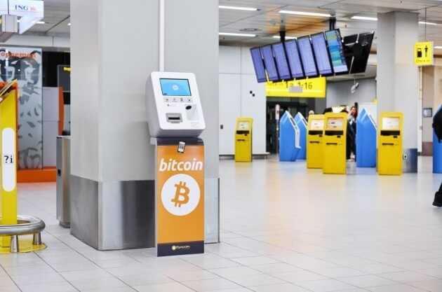 Amsterdamas lidostā tagad ir bitkoinu bankomāts