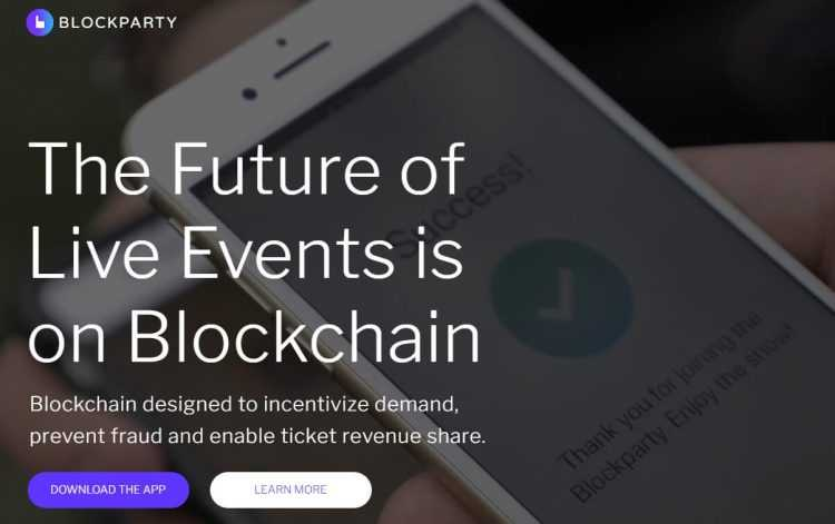 Blockparty platforma un tokens
