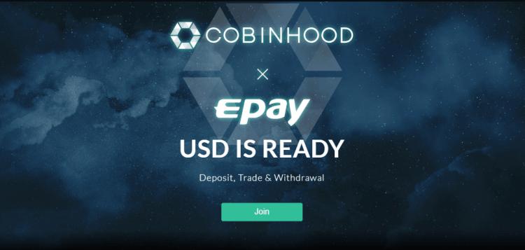 20. jūlijā kriptovalūtu birža Cobinhood pievienos fiat Amerikas dolāra atbalstu.