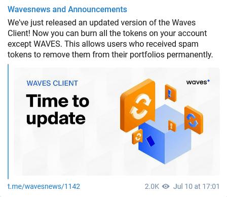 Waves klienta 0.13.3 relīze