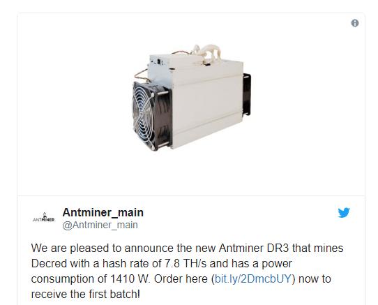 Asic Antminer DR3