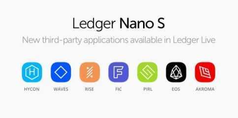 Aparatūras makiem Ledger Nano S pievienots EOS, Waves