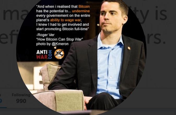 Bitcoin.com izpilddirektors (CEO) Rodžers Vers