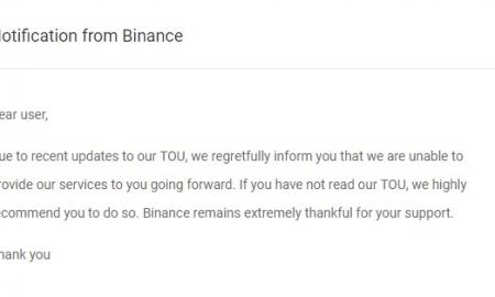 28. novembrī kriptovalūtu biržas Binance lietotāji no Baltkrievijas saņēma vēstuli par to, ka platforma vairs nesniegs viņiem pakalpojumus