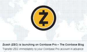 Coinbase paziņojis par atbalsta sākumu uz lietotāju privātumu orientētajai kriptovalūtai Zcash.