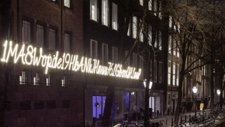 Amsterdamā parādījusies vides instalācija – reāla bitkoina adrese