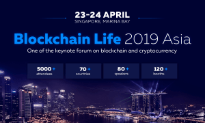"""3. globālais forums """"Blockchain Life 2019"""" norisināsies Singapūrā"""