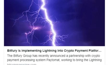 Bitfury pievienos iespēju nosūtīt Lightning maksājumus caur kriptovalūtu maku un Paytomat lietotni tirgotājiem