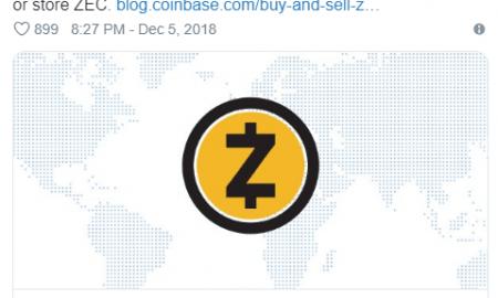 ASV kompānijas Coinbase maks un mobilās lietotnes (iOS un Android) tagad atbalsta uz paaugstinātu privātumu orientēto ZCash