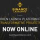 Binance restartēs platformu, lai veiktu tokensale Launchpad