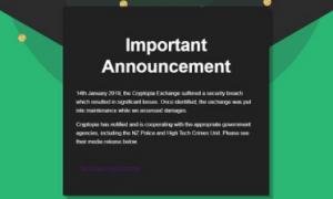 Birža Cryptopia zaudējusi vēl 180 000 ASV $
