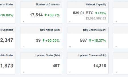 Lightning Network tīklā nodu skaits pārsniedzis 5000