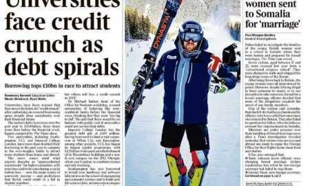 The Times reklāmraksts Satoshi