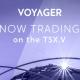 """Brokeru kompānijas """"Voyager"""" akcijas ir nonākušas Kanādas biržas akciju sarakstā"""
