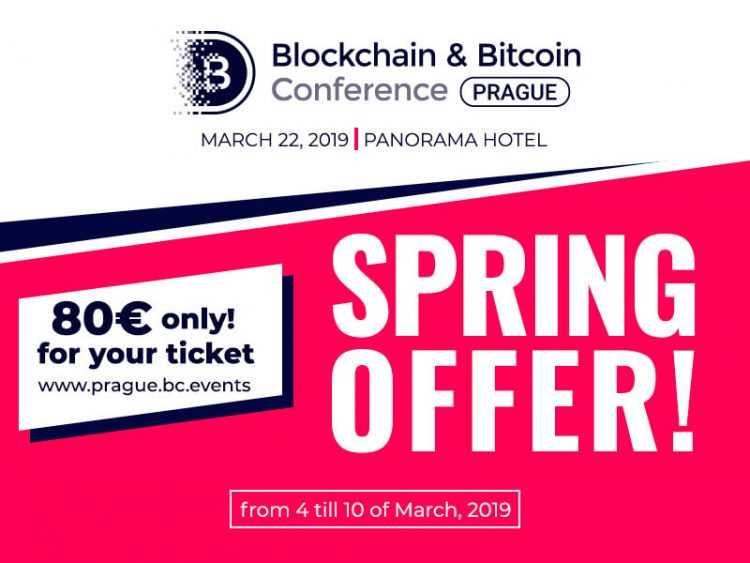 8. martā Biļetes uz Blockchain & Bitcoin konferenci Prāgā € 80