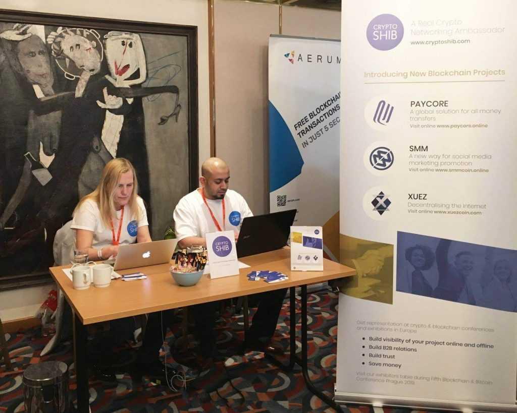 Šodien Prāga norisinās Blockchain & Bitcoin konference, kur demo zonā sastopama ari Cryptoshib