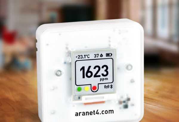 Sensori telpu gaisa kvalitātes kontrolei