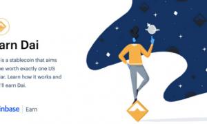 Coinbase lietotājiem radusies iespēja nopelnīt stablecoin DAI caur programmu Earn
