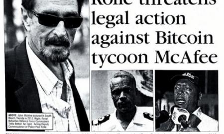 Džons Makafi konfiktā ar Bahamu salu policistiem