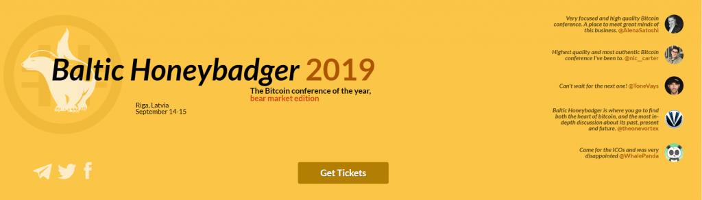 Bitcoin konference Baltic Honeybadger 2019 Rīgā