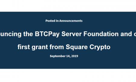 Square piešķīrusi 100 000 $ BTCPay Server