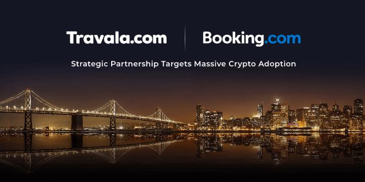 Kriptoserviss Travala noslēdzis partnerību ar gigantu Booking.com