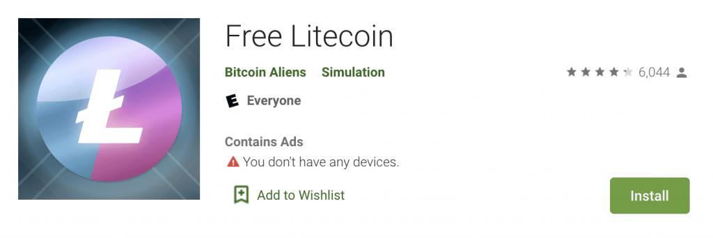 Litecoin tīkla adrešu aktivitāte