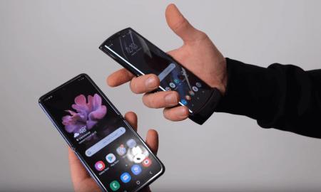 Krītošo telefonu tests. Samsung Galaxy Z Flip salīdzinājumā ar Motorola Razr
