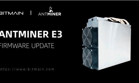 Bitmain Antminer E3 turpinās mainot Ethereum līdz 2020. gada oktobrim
