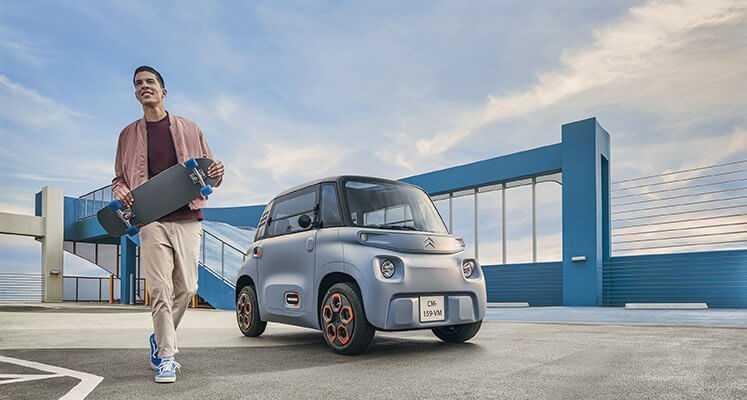Ar miniatūru elektrisko automašīnu Citroen Ami Eiropā var braukt bez vadītāja apliecības