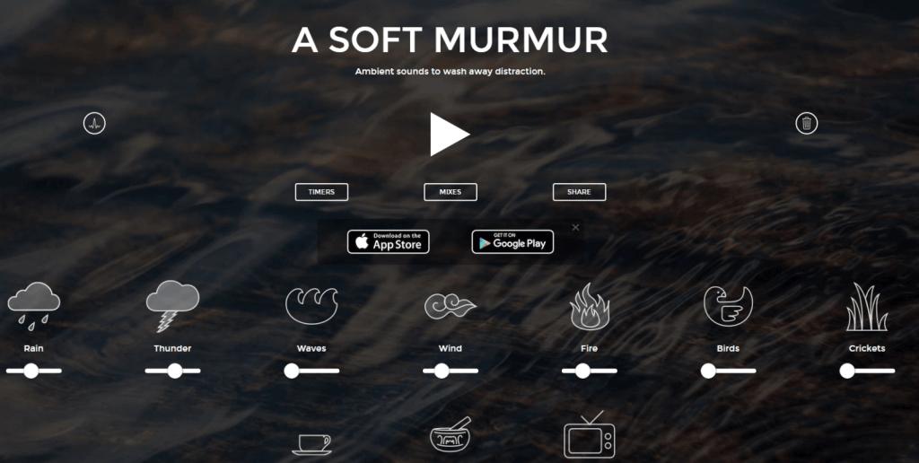 Majaslapā Asoftmurmur varat radīt dažādas skaņas