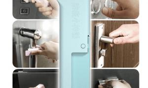 Aliexpress nopērkams gadžets pogu nospiešanai un durvju atvēršanai karantīnas laikā