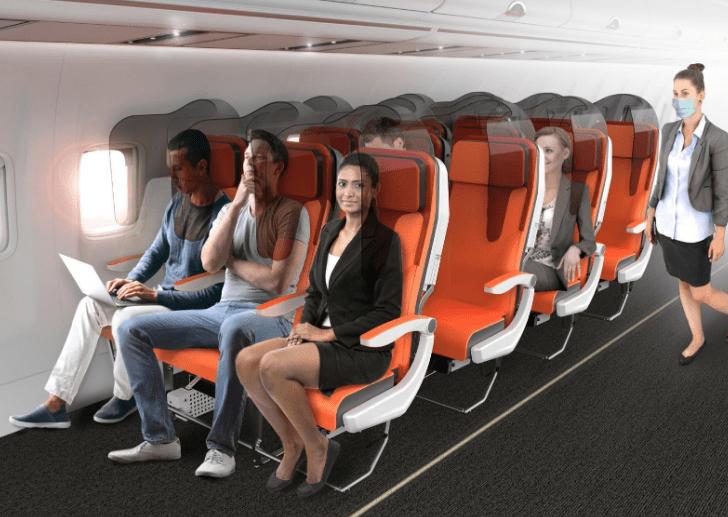Sēdvietas lidmašīnās pēc pandēmijas