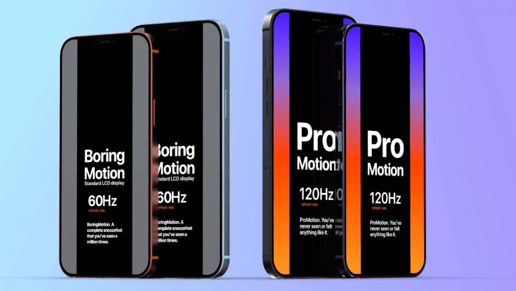 Viedtālruņiem iPhone 12 būs ProMotion displeji