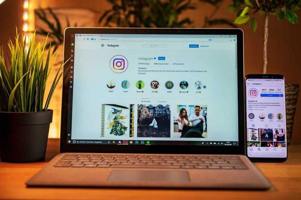 fotoattēli no datora Instagram