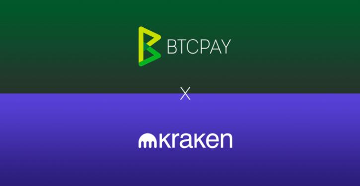 BTCPAY un KRAKEN sadarbība