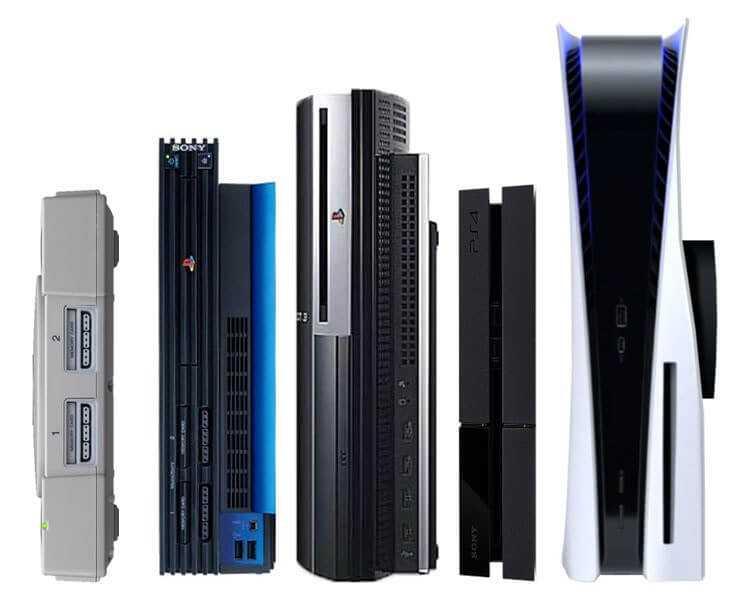 Visas PlayStation konsoli paaudzes