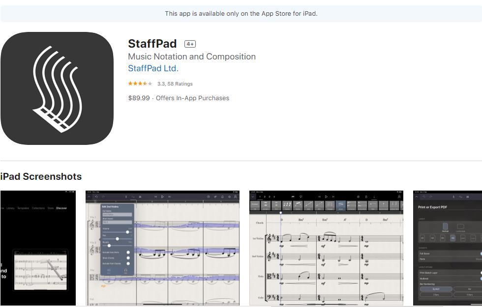 """Mūzikas lietotne """"StaffPad"""""""