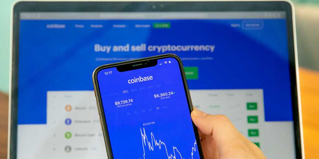 Coinbase listings fondu biržā