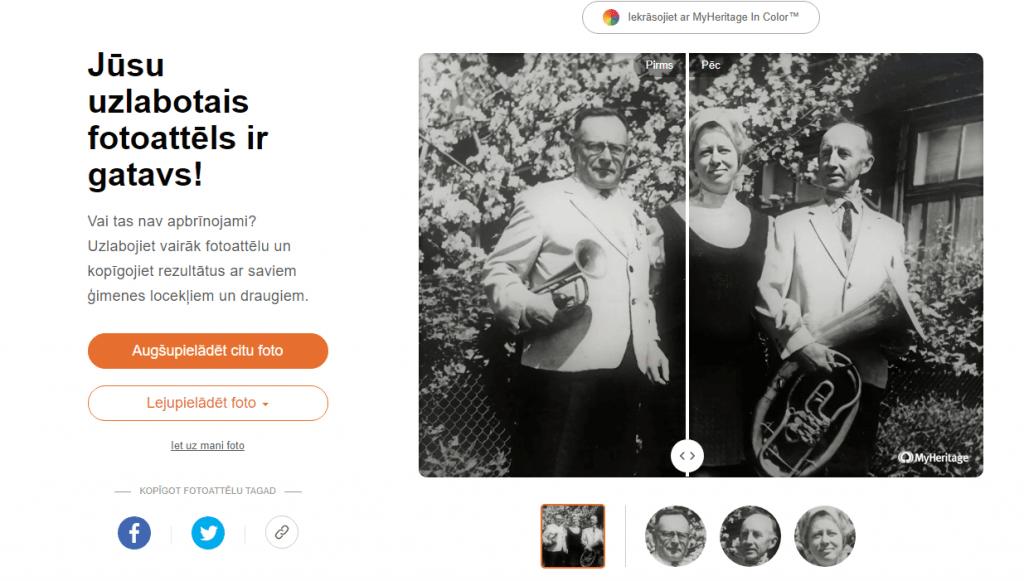 MyHeritage Photo Enhancer izplūdušu fotoattēlu padarīs skaidrāku