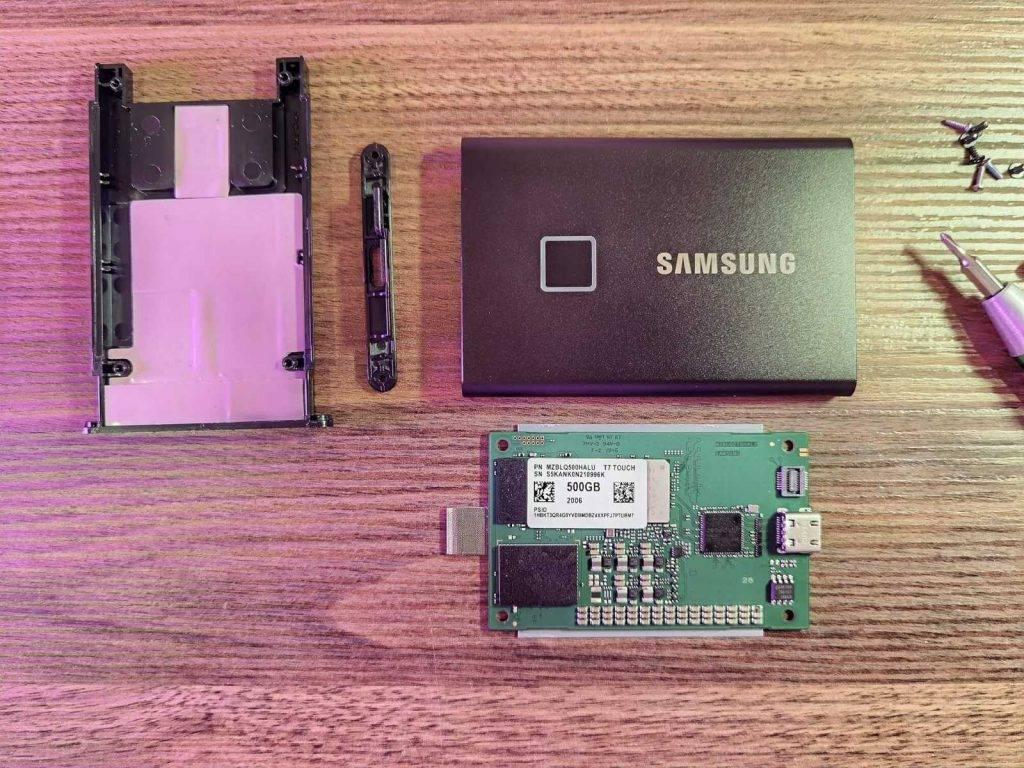 Samsung T7 izjauksana