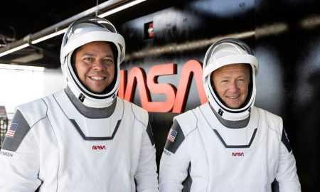 SpaceX Crew Dragon ir nolaidies uz Zemes Meksikas līcī