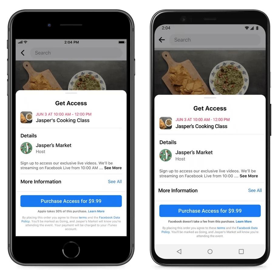 Facebook: Apple nevēlas, lai lietotāji tiktu informēti par 30% komisijas maksu