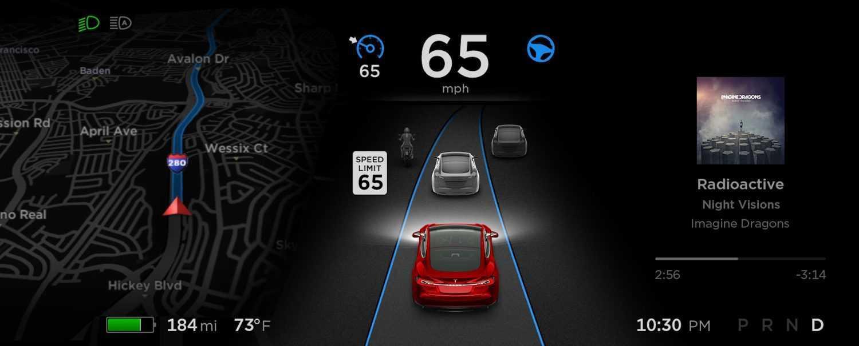Tesla autopilots ātruma tests