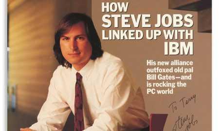 Žurnāls ar Stīva Džobsa autogrāfu pārdots par gandrīz 17 tūkstošiem ASV dolāru