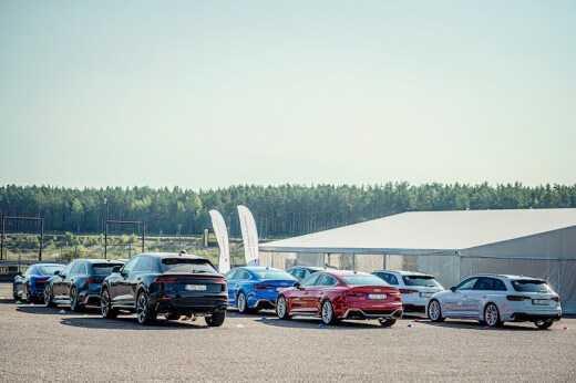 Audi RS izaicina saciksu trasi Lietuva 4