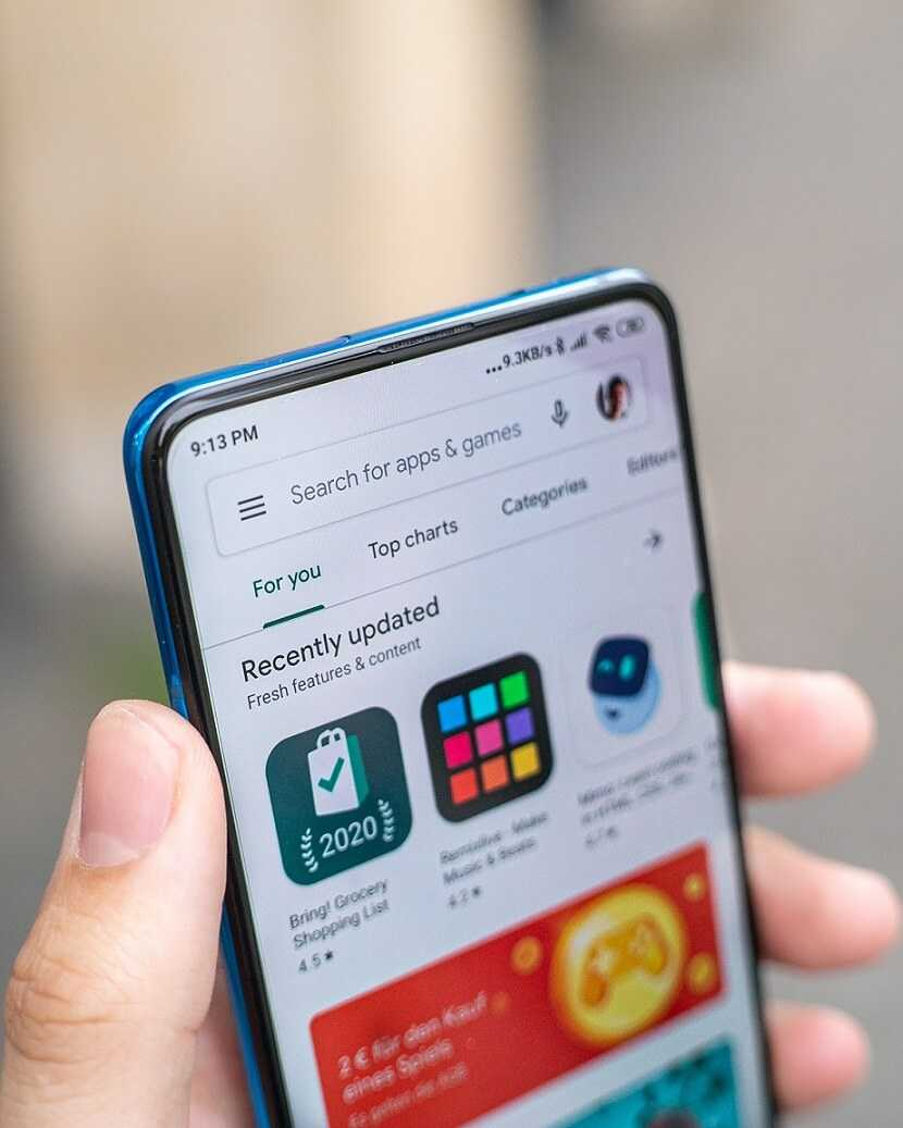 Google Play Store procentu maksājumi