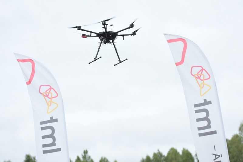 LMT veicis unikālu pārrobežu dronu lidojumu