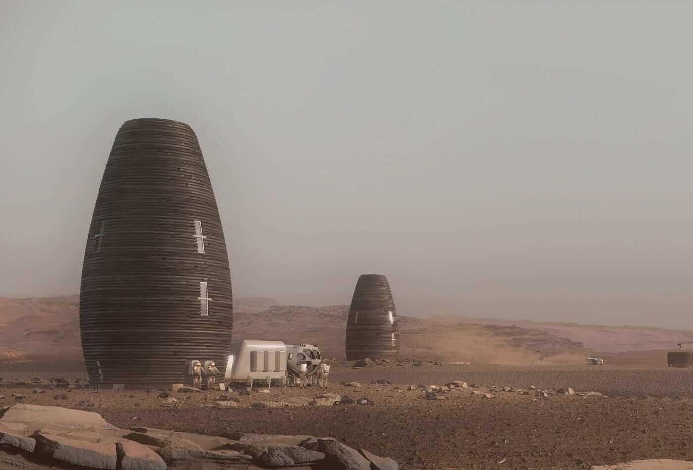 No kādiem materiāliem varētu būvēt mājas uz Marsa?