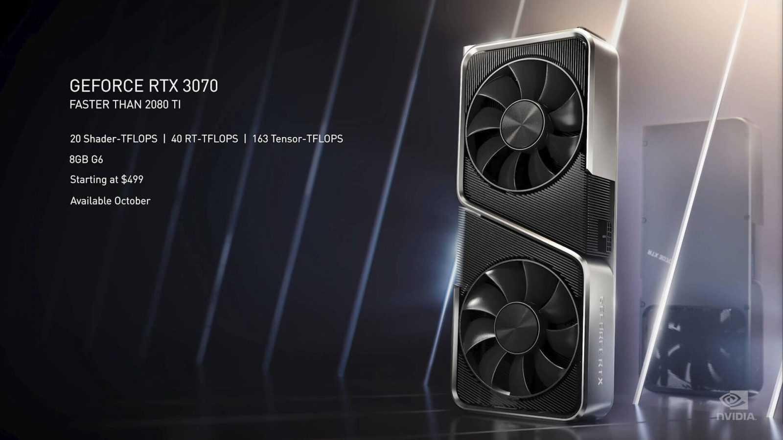 GPU GeForce RTX 3090, RTX 3080 un RTX 3070